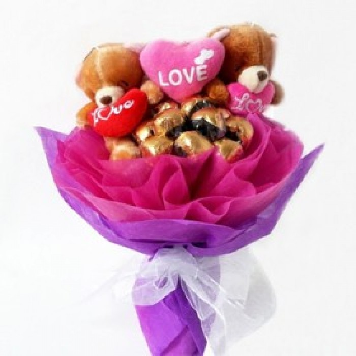 send chocolate bouquets to vizag | order online charming bouquet ...