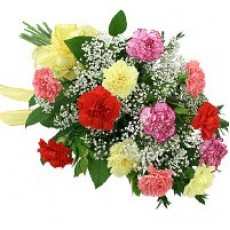 Multicolour Carnations Bouquet