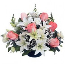 Roses and Lily Basket
