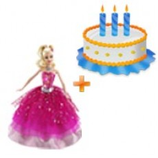 Childrens Day Special - Barbie Doll & Cake