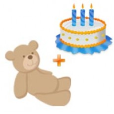 Childrens Day Special - Teddy Bear & Cake