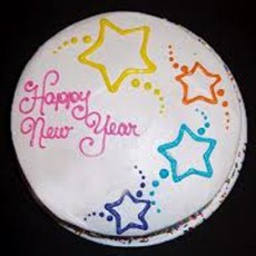 Lovely New Year Butter Scotch Cake - 1kg