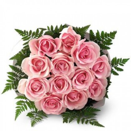 Pink Roses - Hand Bunch