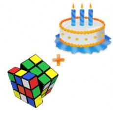 Childrens Day Special - Rubik Cube & Cake