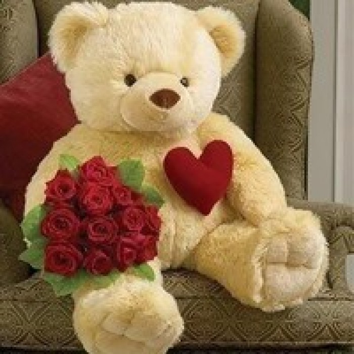 valentines day teddy bears in vizag send valentines gifts in