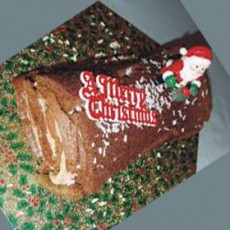 Yule Log Chocolate Truffle Cake